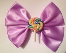 Pastel Púrpura Lollipop Remolino Cabello Moño fairy Kei Kawaii Carnaval Dulces Candy