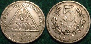 1899 5 CENTAVOS NICARAGUA**NICE DETAILS ***