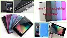 TPU Tasche Bumper Case Etui Cover ASUS Google Nexus 7 Tab SIlikon Schutz Hülle