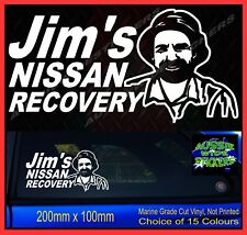 Landcruiser stickers accessories Ute 4x4 MX Funny decal JIM'S RECOVERY 200mm