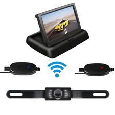 Wireless Car Rear View Kit 4.3'' Foldable LCD Monitor + IR 7LED Reversing Camera