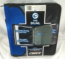 Case It The Dual 2 In 1 Dual Ring Binder 3 Inch Capacity Blue Amp Black