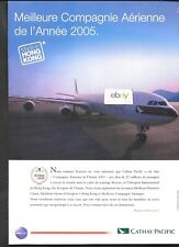 CATHAY PACIFIC AIRWAYS HONG KONG AIRBUS A340 TO PARIS NONSTOP AIRLINE OF YEAR AD
