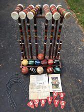 skowhegan croquet set Cart Balls Vintage Wooden Modern 1960s 6 Player Game Yard