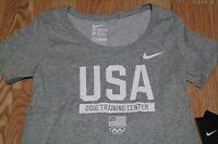 NIKE TEAM USA TRAINING CENTER WOMEN'S  T-SHIRT, SIZE M & L, GREY, 801221 063