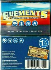 2 Pks Elements Rolling Paper 1 1/2 Ultra Thin Rice Papers 1.50 USA Shipper