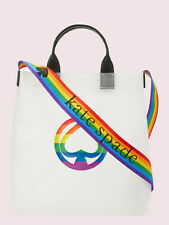 Kate Spade Rainbow Tote with Guitar Rainbow Strap, Pride tote NWT