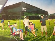 Quik Shade Expedition 100 SF Pop Up Easy Canopy Gazebo Party Tent Green 10x10
