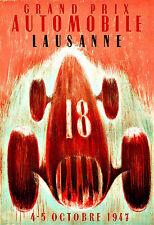 Ad Art Grand Prix Automobile  Lausanne Automobile Car Deco Auto  Poster Print