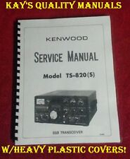 "Kenwood TS-820 Service Manual **On 32LB Paper** w/11""x17"" Fold Out Schematic!!"