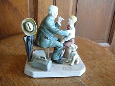 Norman Rockwell Classic Figurine Collection - The Country Doctor - Nib Coa Ex