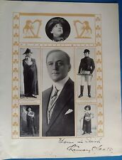 Authentic Chauncey Olcott autograph 1913 Actor stage theater play Broadway show