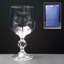 DRAMA Personalised Engraved Wine Glass FREE ENGRAVING Amateur Dramatics Acting