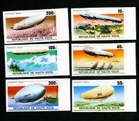 Upper Volta Stamps XF OG NH Set of 6 Zeppelin Imperfs
