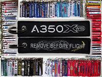 Keyring AIRBUS A350 XWB in BLACK Remove Before Flight keychain Cockpit Windows