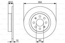 2x Bremsscheibe für Bremsanlage Hinterachse BOSCH 0 986 479 517