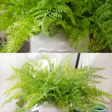 DIY Artificial Fern Bouquet Silk Plants Fake Leaves Foliage Home Green Decor