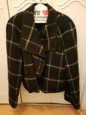 Vintage Guy LaRoche of Paris Black Wool with White Stripe Jacket Size 40