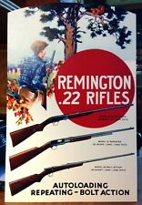 Repro Remington 22 Rifles Models 12 24 & 33 Standing Advertising Die Cut