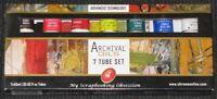 ARCHIVAL OILS PAINT SET 7 Tubes x40ml Artists Quality Paints Craft/BTP/Art