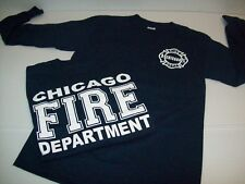 Chicago Fire Department Adult Navy Tee Long Sleeve