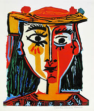 "Pablo Picasso BUST OF A WOMAN WITH HAT Estate Signed Ltd Edition Giclee 26"" x 20"