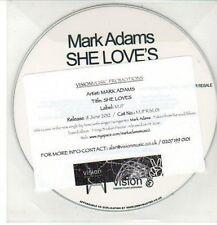 (DD181) Mark Adams, She Love's - 2012 DJ CD