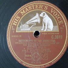 """78 tr/min 12"""" Malcolm Sargent instruments de l'orchestre 1 & 2 seulement, C 3619 Cordes"""