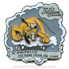 DISNEY PIN PLUTO YEAR OF A MILLION DREAMS CLOUD PULLETH THE BONE FROM THE STONE