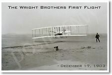 Wright Brothers First Flight - 1903 - NEW Vintage Photograph POSTER