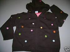 NWT Gymboree LOTS OF DOTS hoodie sweater cardigan 5 5t rainbow pride event grad