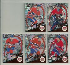 1999-00 Pacific Revolution Red Montreal Canadiens Team Set (5) Koivu Etc./299