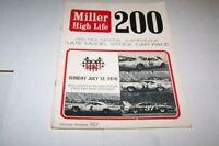 7/12/1970 150 MILE USAC Miller CAR RACING PROGRAM