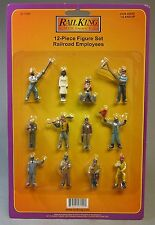 MTH 12 PC FIGURE SET RAILROAD EMPLOYEES worker o gauge train track crew 30-11066