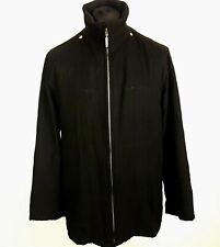 Daniel Hechter Mens Bomber Jacket Size 52 Black Lamb Nappa Polyester
