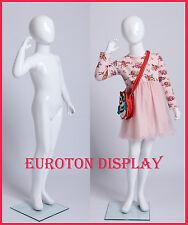Kinderpuppe XB5B weiß lackierte  abstrakte Schaufensterpuppe Mannequin Mädchen