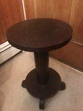 Antique Oak Empire Plant Stand Statue Vase Table Display Gallery Pedestal Column