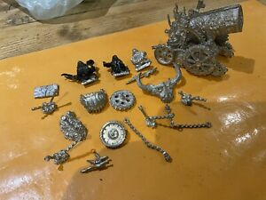 Warhammer Games Workshop Chaos Dwarf Hell Cannon & Crew Daemon Machine Metal OOP