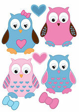 t shirt transfers . iron on  * BAGS * JEANS* CLOTHES *OWLS X 4