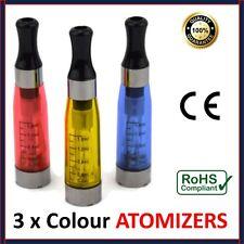 3 x CE4 COLOUR Atomiser 1.6ML Tank Clearomiser Vape E-Cig Shisha Pen 510 EGO  UK