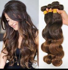 8A 400g/4bundles Unprocessed Ombre 4/30 Malaysian Bodywave Human Hair