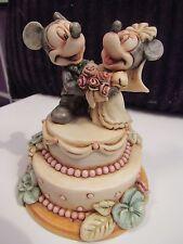 Harmony Kingdom Disney Mickey Mouse & Minnie Fairy Tale Wedding Cake Lim Ed 500