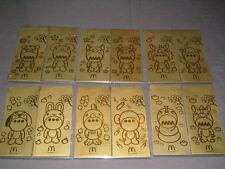McDonald's Softhard Chinese NEW YEAR Zodiac Animals Envelopes 12