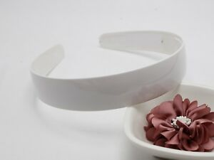 """5 White Plastic Wide Alice Hair Band Headband 25mm(1"""") Hair Accessories"""
