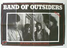 BAND OF OUTSIDERS – « ON TOUR » - AFFICHE ORIGINALE – ACT OF FAITH - 1986