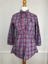 Abercrombie And Fitch Ladies Pink L Check Shirt Keyhole Bust