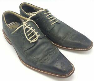Giorgio Brutini Sz 11.5 M  Mens Wingtip Dress Shoes Gray Leather Lace Up