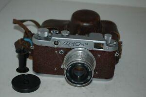 FED 2 Type B4 Vintage Red 1957 Soviet Rangefinder Camera, Case. 386033. UK Sale
