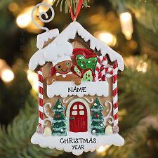 Kurt Adler Gingerbread Baker House Personalized Christmas Tree Ornament NEW