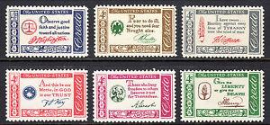 Sc#s 1139-44 - 1960-1 Year set -  American Credo MNH Singles SCV $3.00 See scan